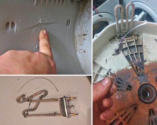 Косточка от лифчика попала в барабан стиральной машины