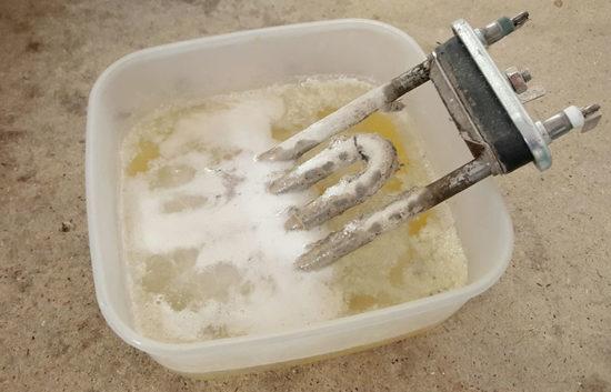 Очистить ТЭН от накипи в домашних условиях