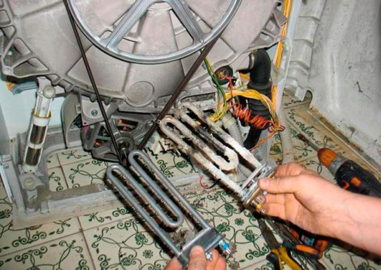 Замена неисправного ТЭНа стиральной машины