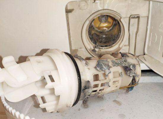 Засор сливного фильтра стиральной машины